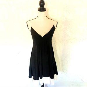 Express Black & White Babydoll Dress